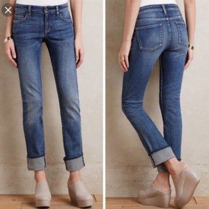 Anthro Pilcro Parallel Mid-Rise Straight Jeans
